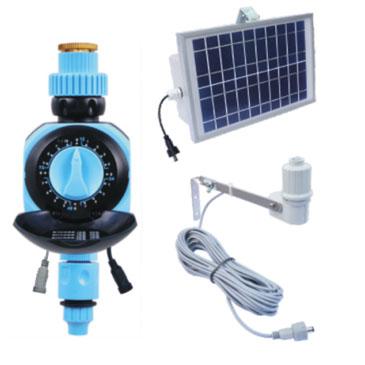 Solar panel single dial timer with rain sensor