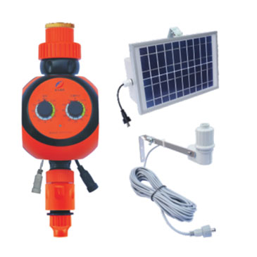 Solar panel  dial timer with rain sensor