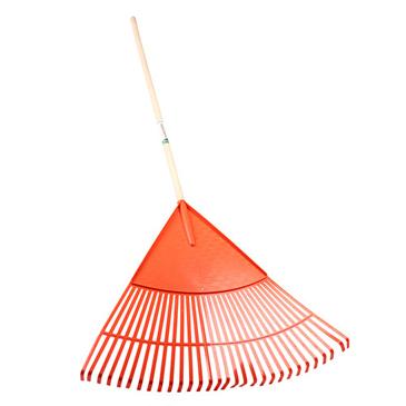 30 Teeth plastic lawn rake with 48 inch hardwood handle